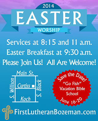 Easter Worship Schedule